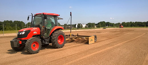 Laser Grading Dirt for Sports Field