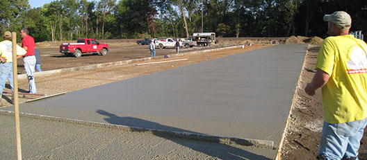 Concrete for Sports Facility